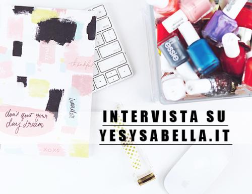 Intervista su YES: Ysabella.it